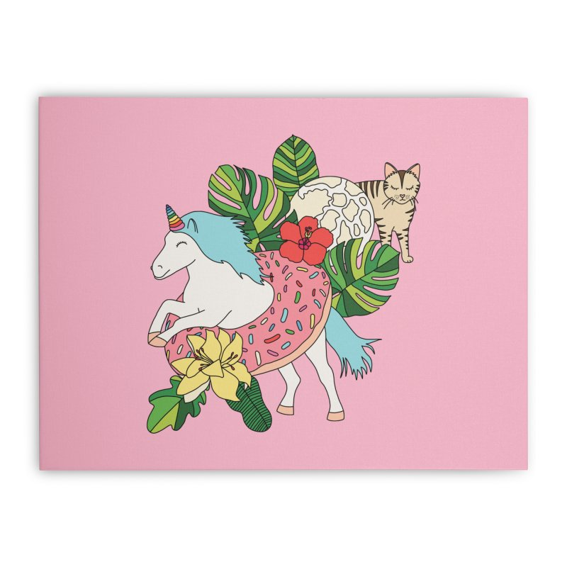 Unicorn paradise by Elebea Home Stretched Canvas by elebea