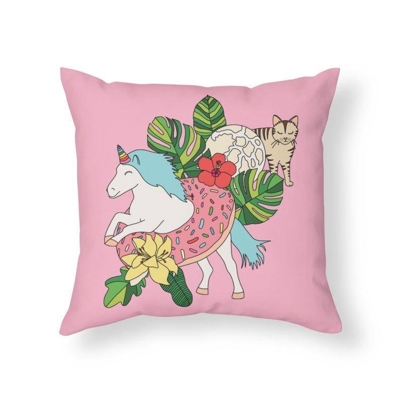 Unicorn paradise by Elebea Home Throw Pillow by elebea
