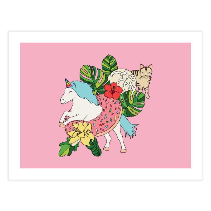 Unicorn paradise by Elebea Home Fine Art Print by elebea