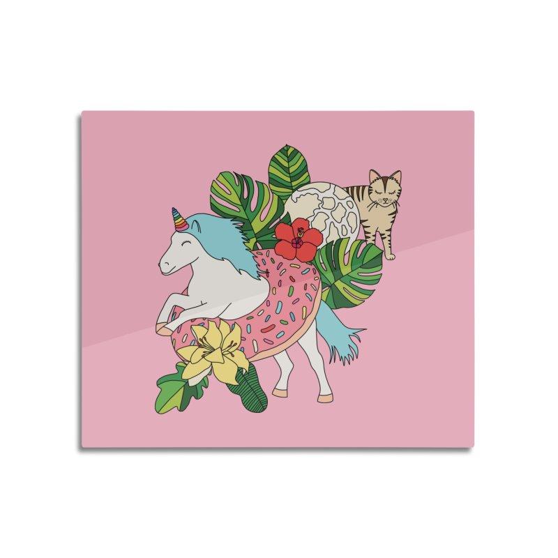 Unicorn paradise by Elebea Home Mounted Acrylic Print by elebea