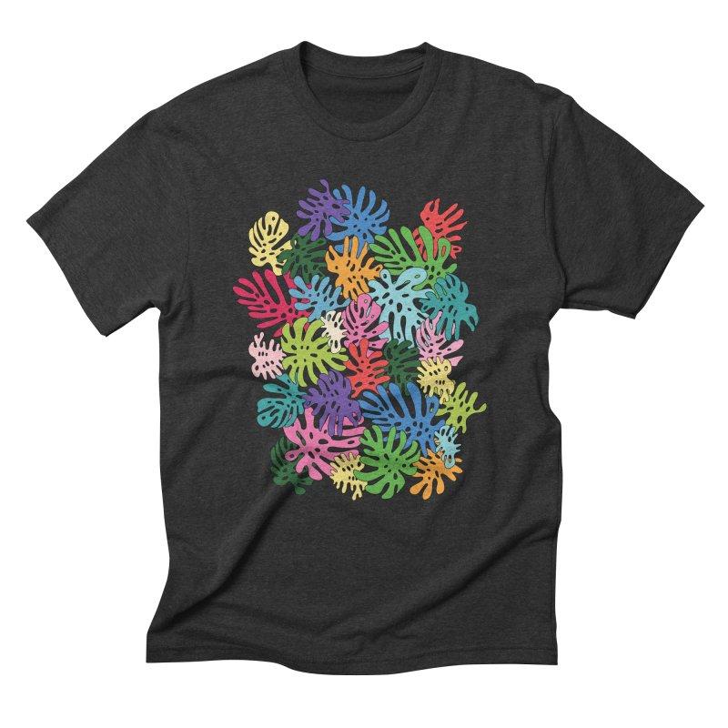 Monstera rainbow by Elebea Men's Triblend T-shirt by elebea