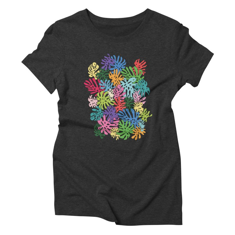 Monstera rainbow by Elebea Women's Triblend T-shirt by elebea