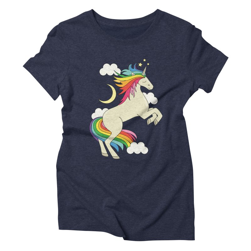 Rainbow unicorn by Elebea Women's Triblend T-shirt by elebea