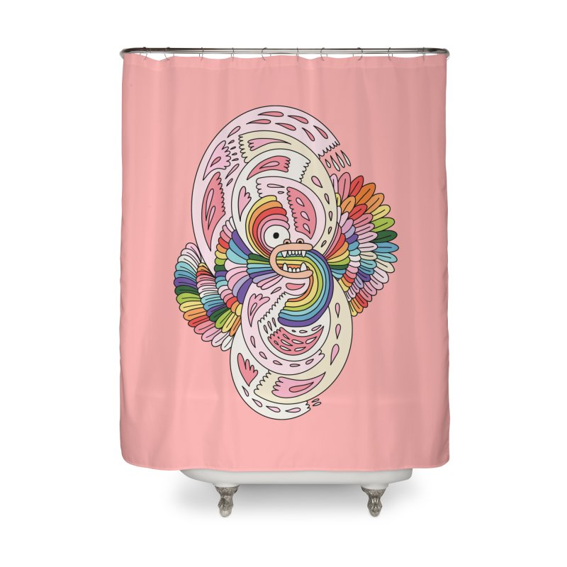 Rainbow dragon by Elebea Home Shower Curtain by elebea