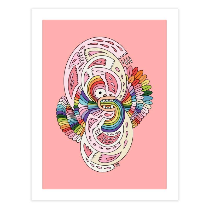 Rainbow dragon by Elebea Home Fine Art Print by elebea