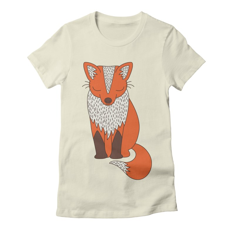 Fox by Elebea in Women's Fitted T-Shirt Natural by elebea