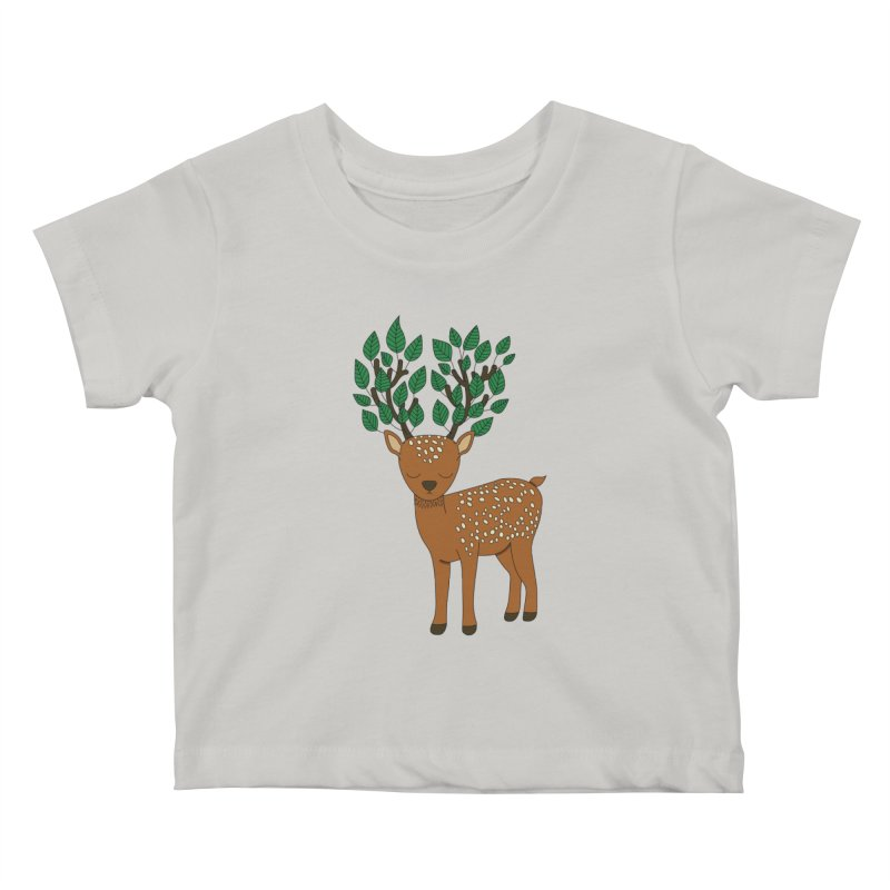 Deer tree by Elebea Kids Baby T-Shirt by elebea