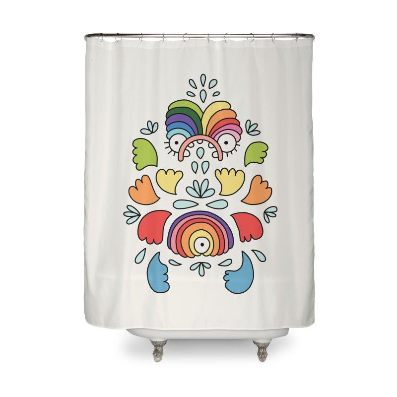 Rainbow angel by Elebea Home Shower Curtain by elebea