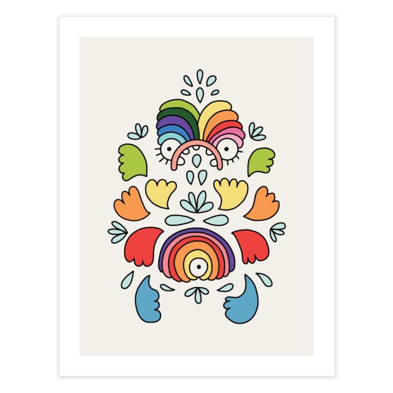 Rainbow angel by Elebea Home Fine Art Print by elebea