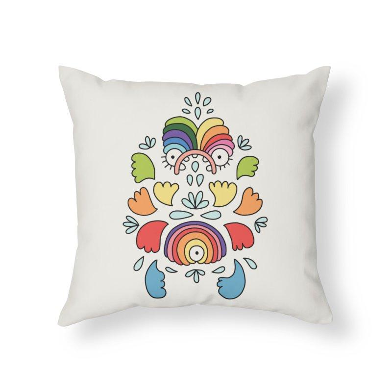 Rainbow angel by Elebea Home Throw Pillow by elebea