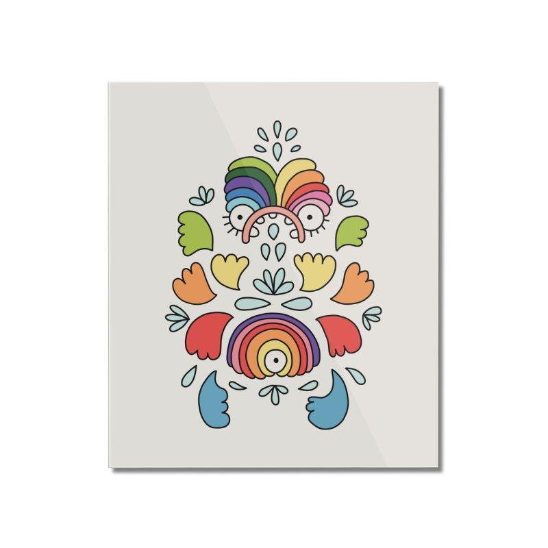 Rainbow angel by Elebea Home Mounted Acrylic Print by elebea