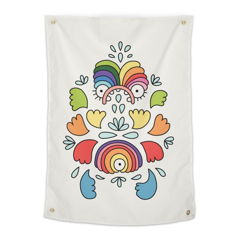 Rainbow angel by Elebea Home Tapestry by elebea