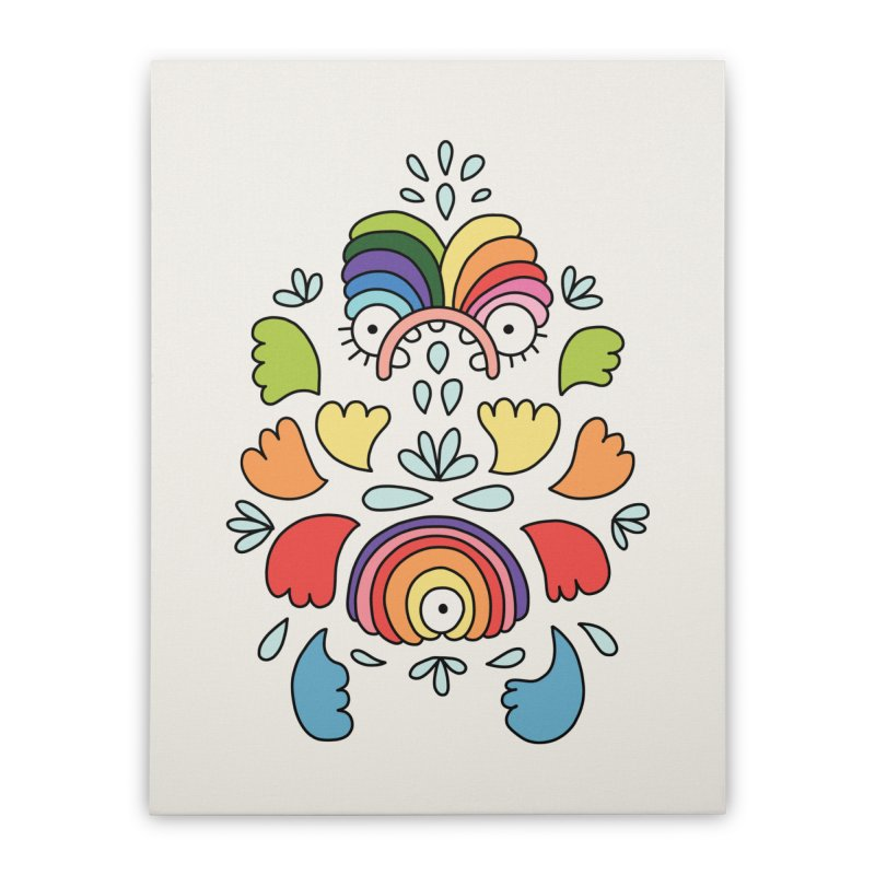 Rainbow angel by Elebea Home Stretched Canvas by elebea