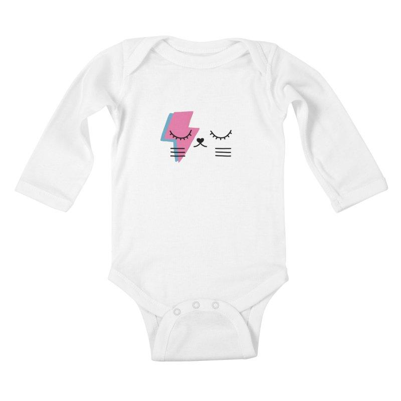 Bowie cat II by Elebea Kids Baby Longsleeve Bodysuit by elebea
