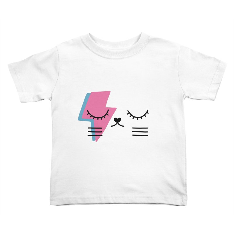 Bowie cat II by Elebea Kids Toddler T-Shirt by elebea