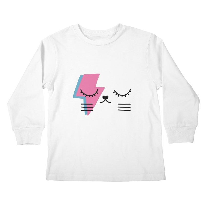 Bowie cat II by Elebea Kids Longsleeve T-Shirt by elebea