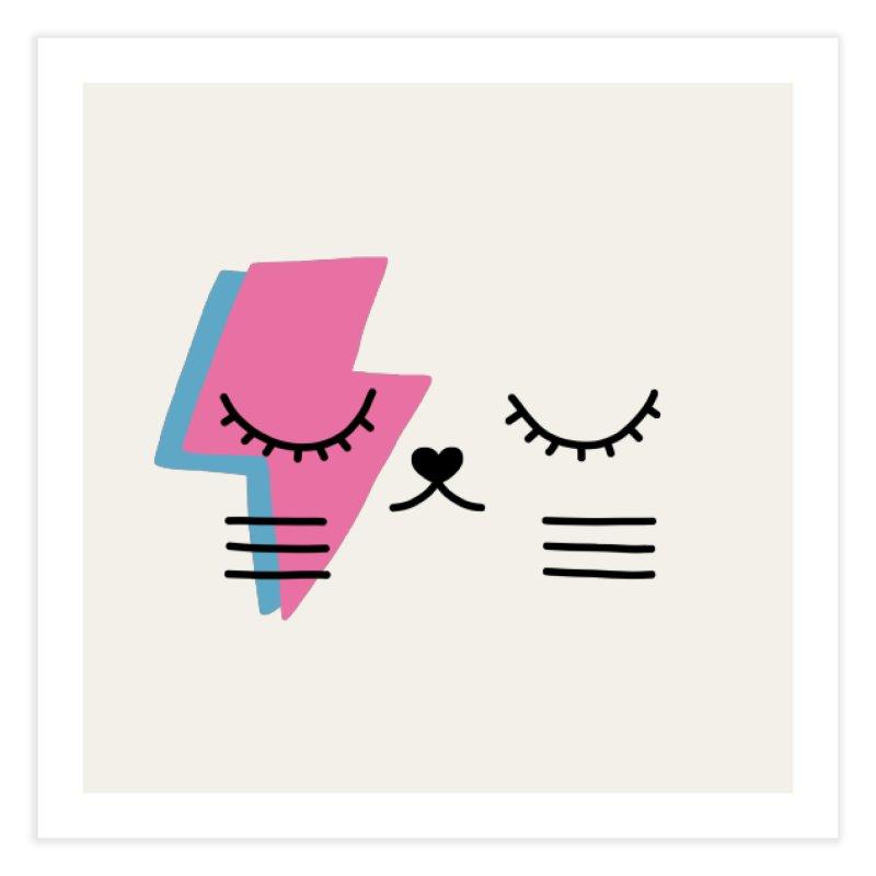 Bowie cat II by Elebea Home Fine Art Print by elebea