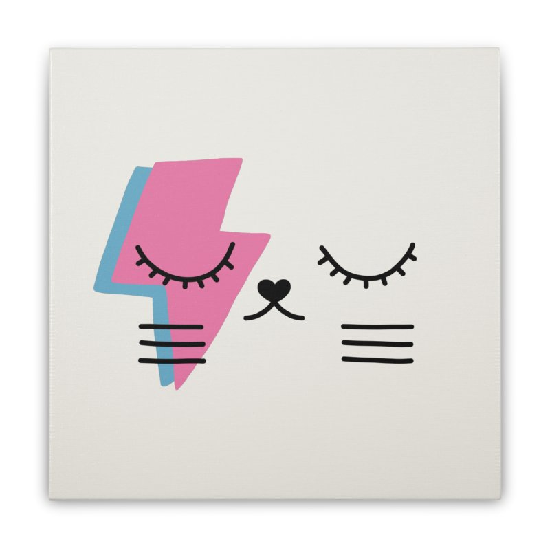 Bowie cat II by Elebea Home Stretched Canvas by elebea