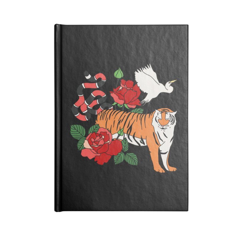 Roses and animals by Elebea Accessories Notebook by elebea