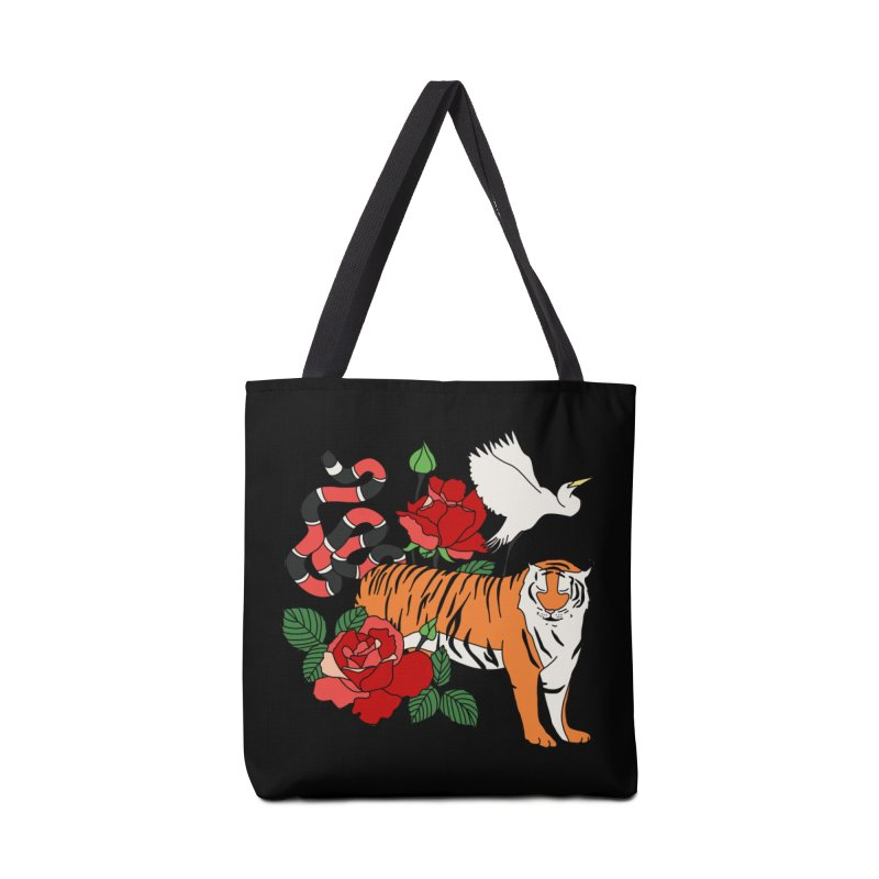 Roses and animals by Elebea Accessories Bag by elebea