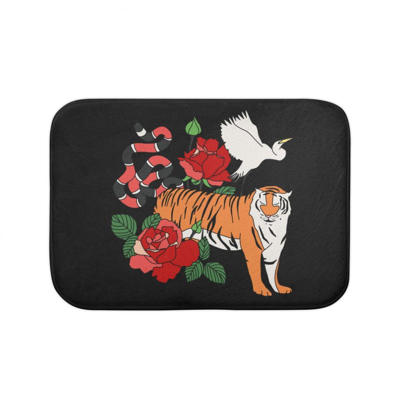Roses and animals by Elebea Home Bath Mat by elebea