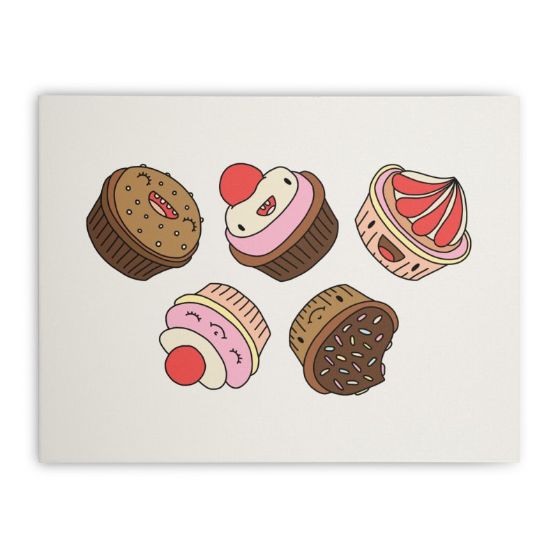 Cupcakes by Elebea Home Stretched Canvas by elebea