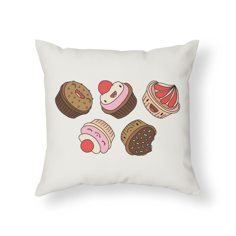 Cupcakes by Elebea Home Throw Pillow by elebea
