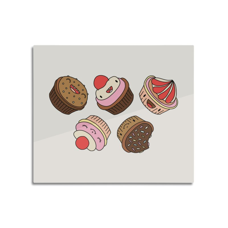 Cupcakes by Elebea Home Mounted Aluminum Print by elebea