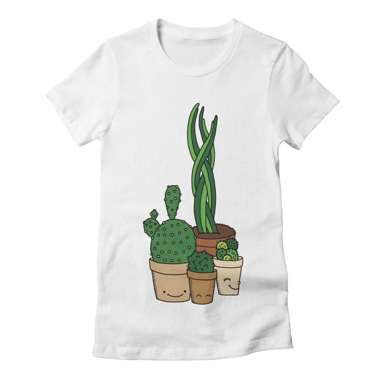 Happy cactus by Elebea Women's Fitted T-Shirt by elebea