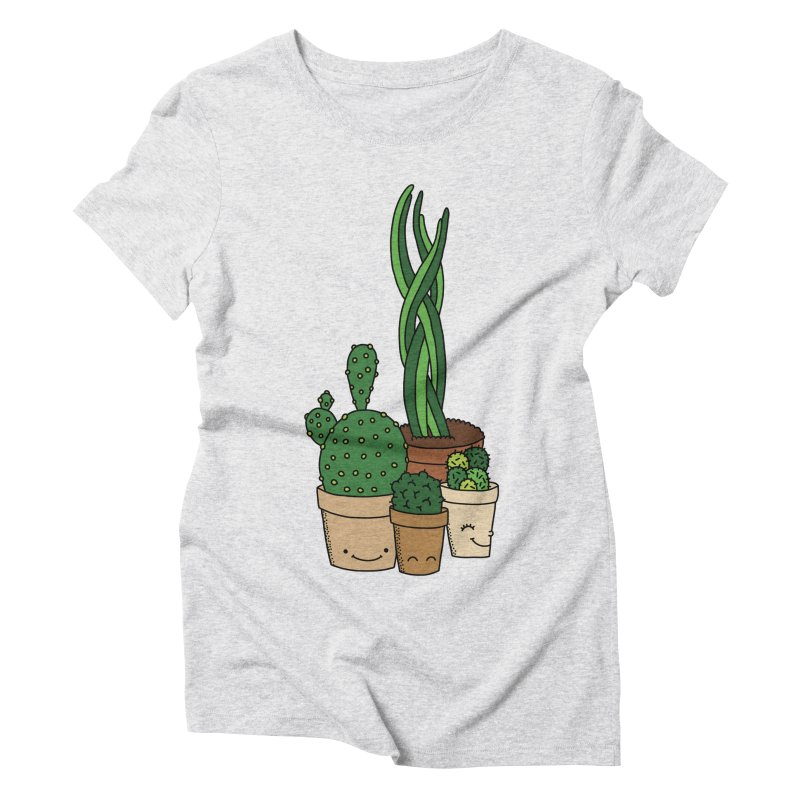 Happy cactus by Elebea Women's Triblend T-Shirt by elebea