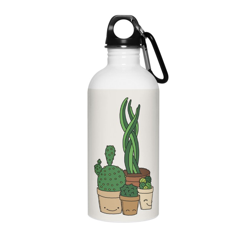 Happy cactus by Elebea Accessories Water Bottle by elebea