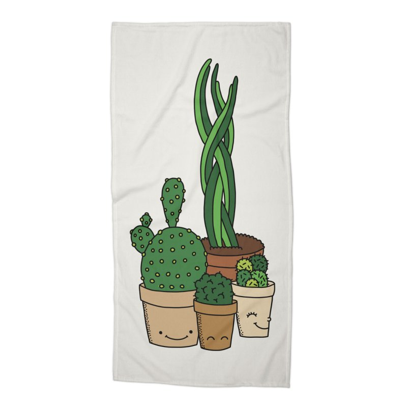 Happy cactus by Elebea Accessories Beach Towel by elebea