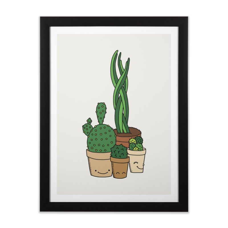 Happy cactus by Elebea Home Framed Fine Art Print by elebea