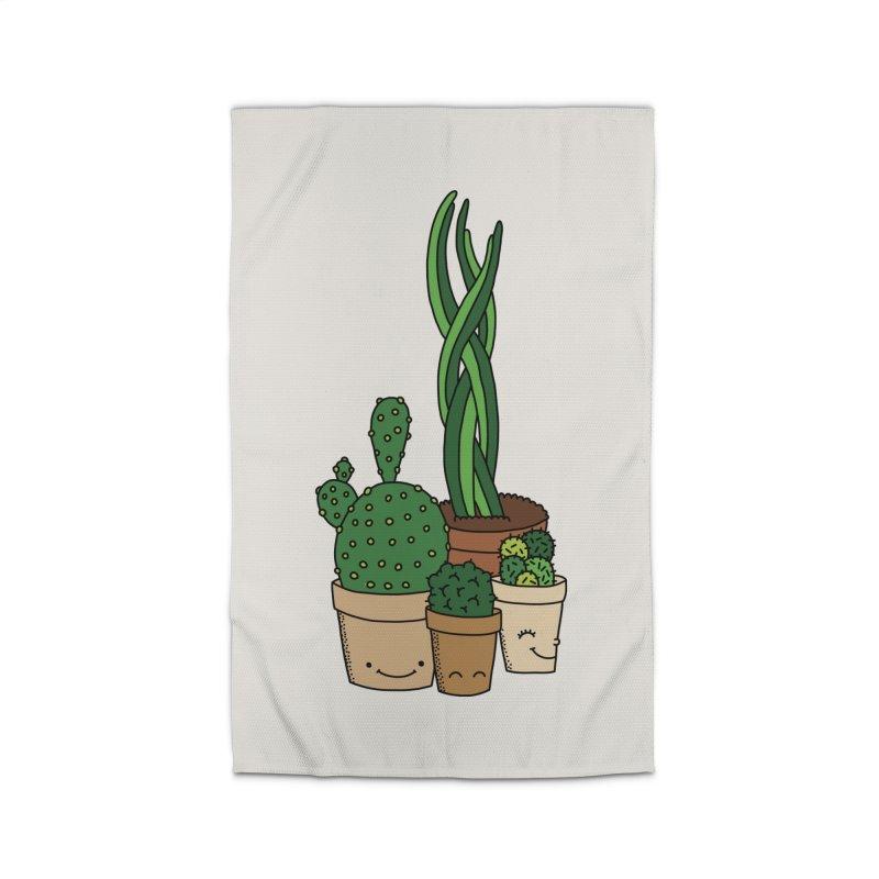 Happy cactus by Elebea Home Rug by elebea