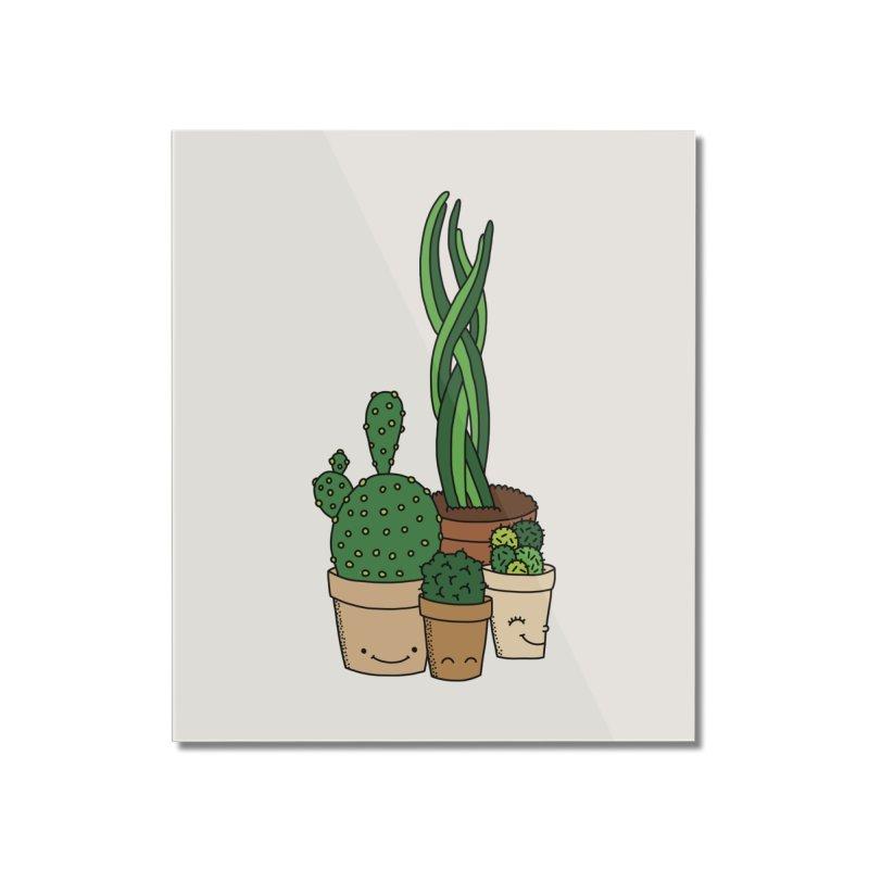 Happy cactus by Elebea Home Mounted Acrylic Print by elebea