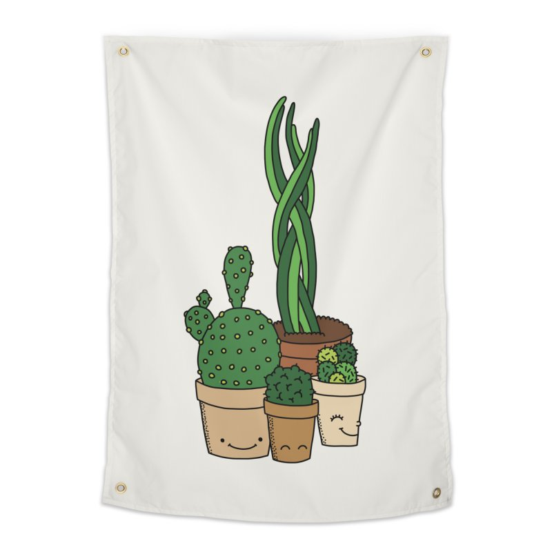 Happy cactus by Elebea Home Tapestry by elebea