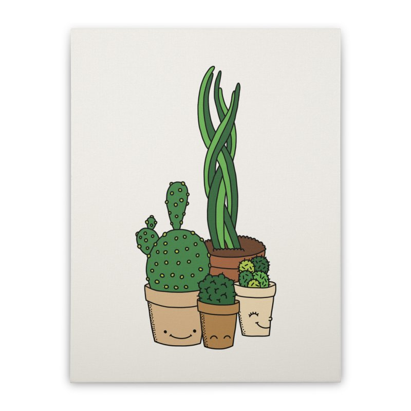 Happy cactus by Elebea Home Stretched Canvas by elebea
