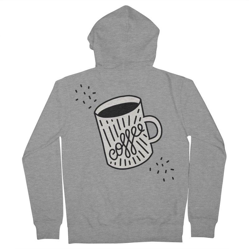 Coffee by Elebea Men's Zip-Up Hoody by elebea