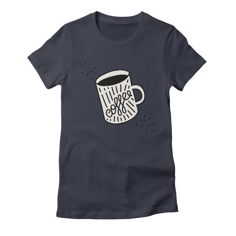 Coffee by Elebea Women's Fitted T-Shirt by elebea