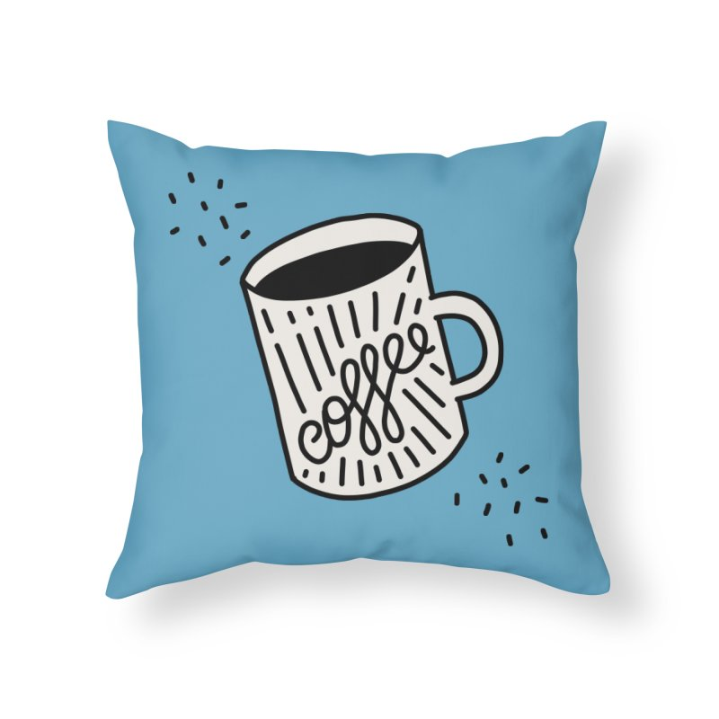 Coffee by Elebea Home Throw Pillow by elebea