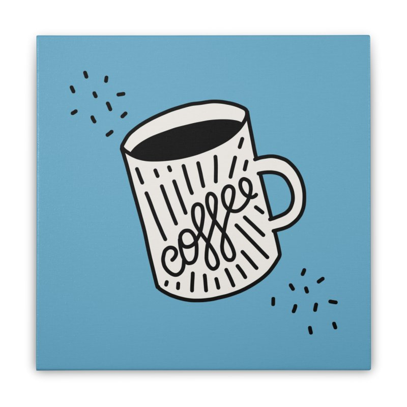 Coffee by Elebea Home Stretched Canvas by elebea