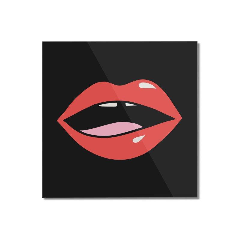 Lips by Elebea Home Mounted Acrylic Print by elebea