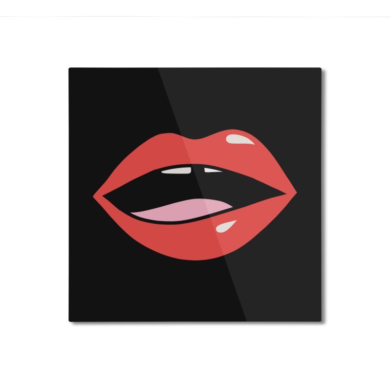 Lips by Elebea Home Mounted Aluminum Print by elebea