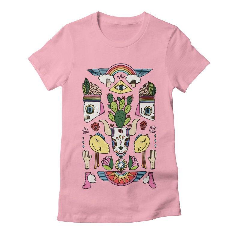Rainbow desert by Elebea Women's Fitted T-Shirt by elebea