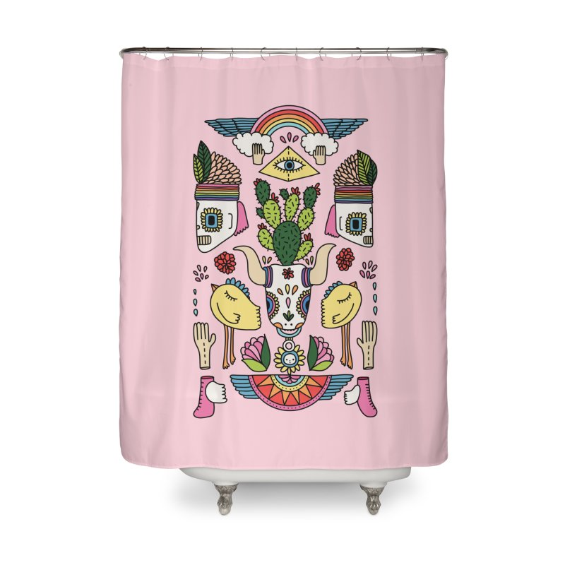Rainbow desert by Elebea Home Shower Curtain by elebea