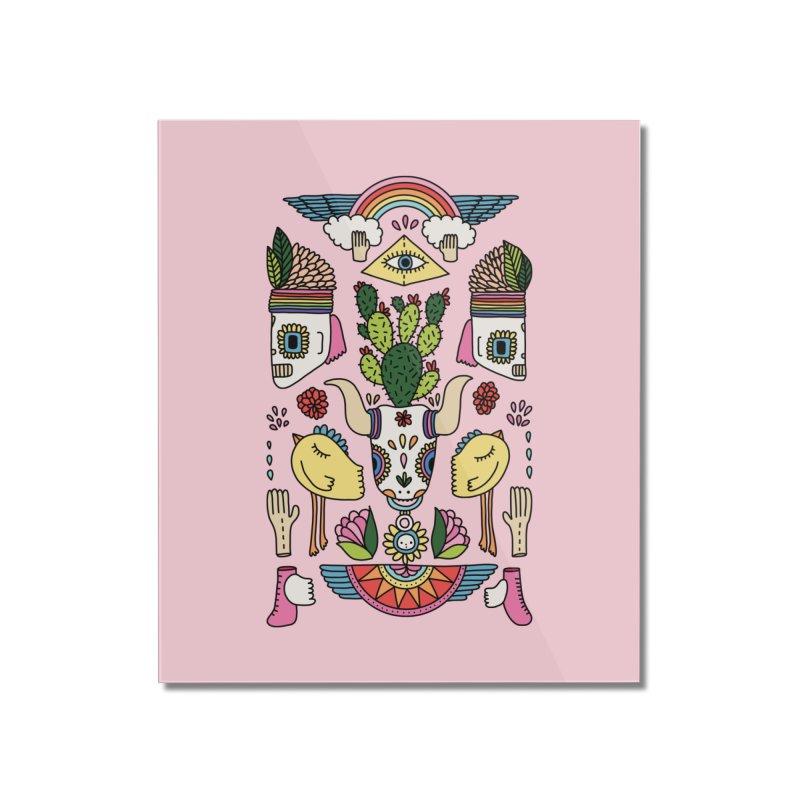 Rainbow desert by Elebea Home Mounted Acrylic Print by elebea