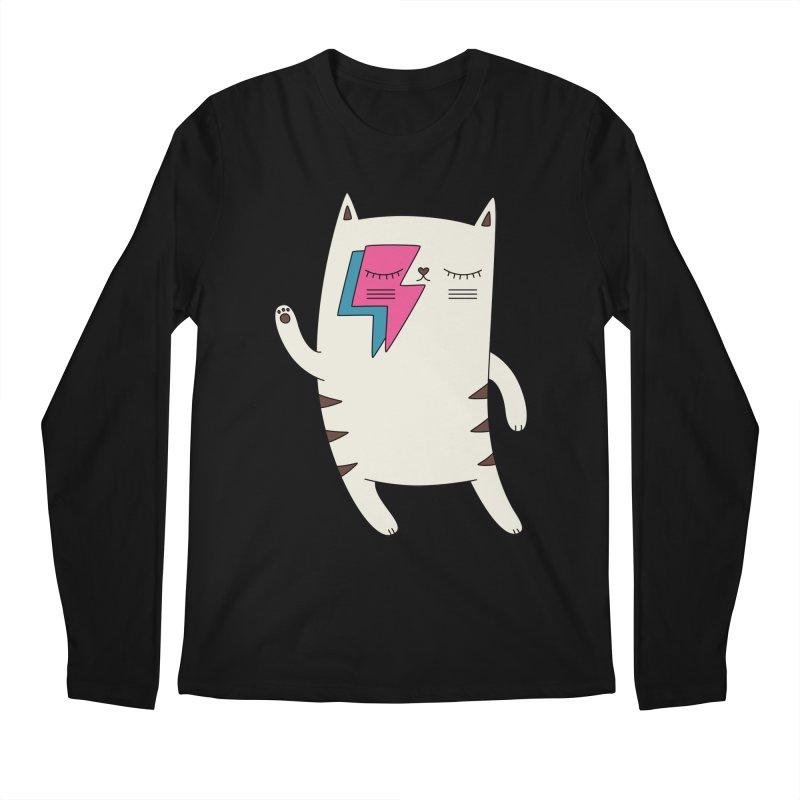 Bowie cat by Elebea Men's Longsleeve T-Shirt by elebea