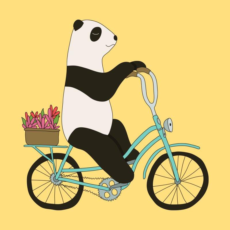 Panda on a bike by Elebea by elebea
