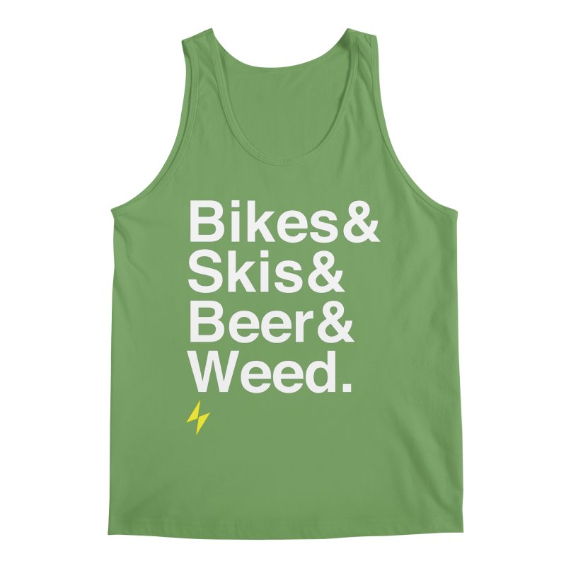 Bikes&Skis&Beer&Weed. Men's Tank by Electric Graphic Design