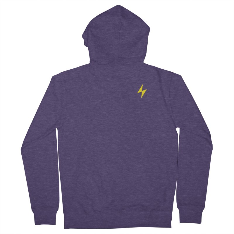 Electric Bolt - Pocket Tee Men's Zip-Up Hoody by Electric Graphic Design